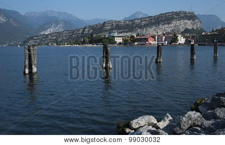 Lake Garda Torbole view from the boat embarkation direct Limone.