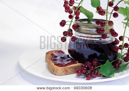 Chokecherry Jam Jar and Toast