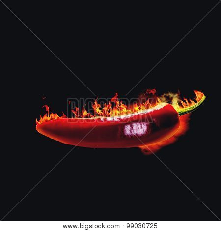 Red hot chili pepper. Spicy food backgrounds