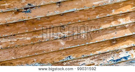 Scraped Wooden Boat Planks Texture