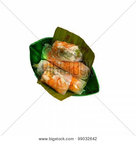Isolated Vietnam Wafer Spring Rolls