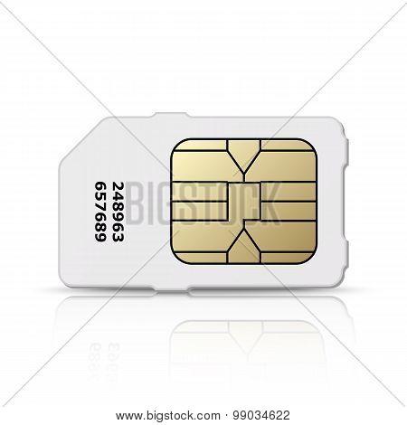 Vector Sim Card Icon