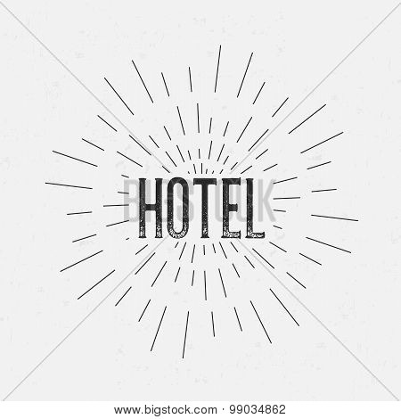 Abstract Creative concept vector design layout with text - hotel. For web and mobile icon isolated o