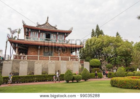 TAINAN TAIWAN - APR 19 : Ticket to entrance to Chihkan Tower Fort Proventia on April 19 2015 in Tainan Taiwan. It is located in the West Central District of Tainan in Taiwan. It was built in 1653.