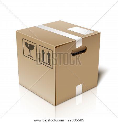 Cardboard Box Icon, Vector