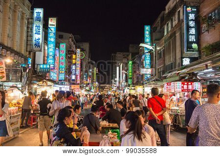 KAOHSIUNG TAIWAN - APR 20 : Taiwan's unique culture night bazaar attracts many young people to this city which has become one of Taiwan's culture on 20 April 2015 in Kaohsiung.