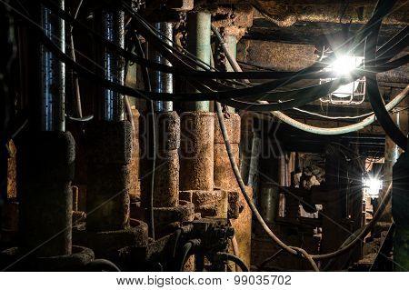 Real Underground Mine Equipment.