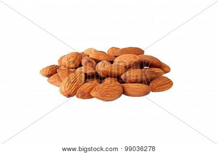 almonds in heap over