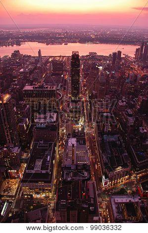 Manhattan Sunset Skyline