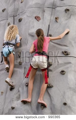 Girls Rock Climbing 2