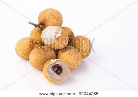Longan Fruit On A Background