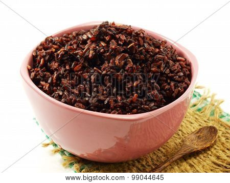 rice mix purple rice berry rice in white cup is a popular health