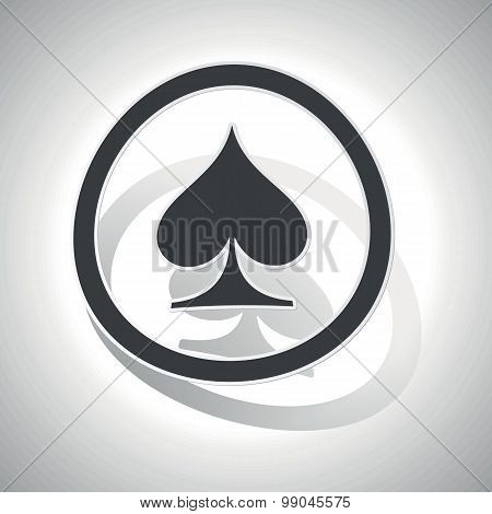 Curved spades sign icon