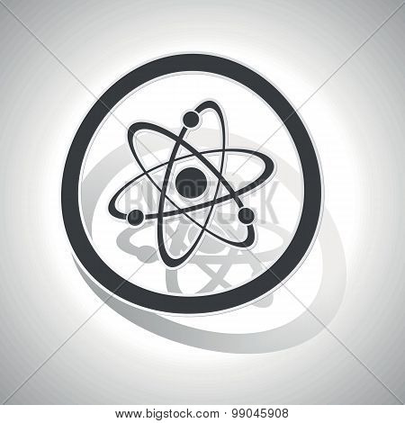 Curved atom sign icon
