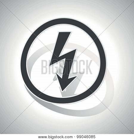 Curved voltage sign icon