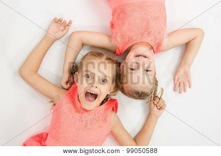 Two Sisters Lying On His Back   Inverted