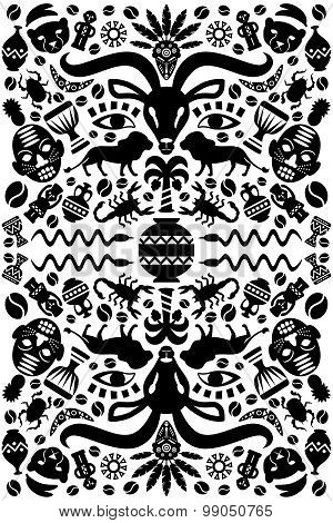 Abstract Tribal Ornamental Background