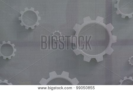 Mechanical Cogs On Canvas