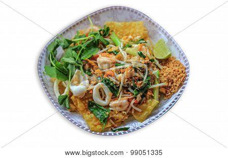 Crispy Seafood Padthai Famous Thai Food