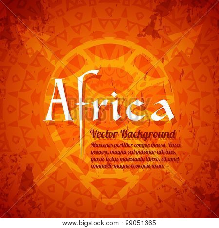 African Tribal Ethnic Art Background