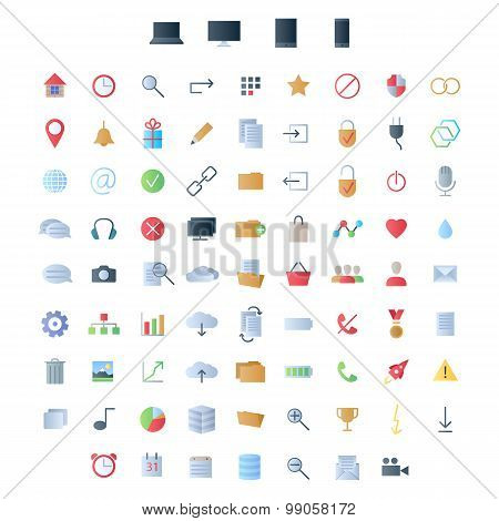 Set of icons for ui user interface mobile devices and web applications.