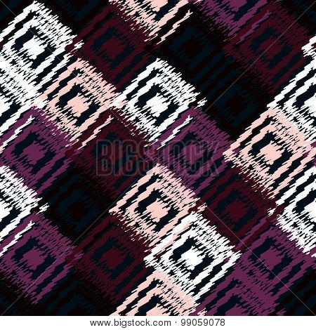 Ikat Fabric Seamless Background