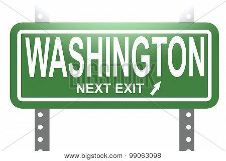 Washington Green Sign Board Isolated