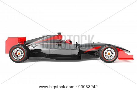Generic Black And Red Race Car