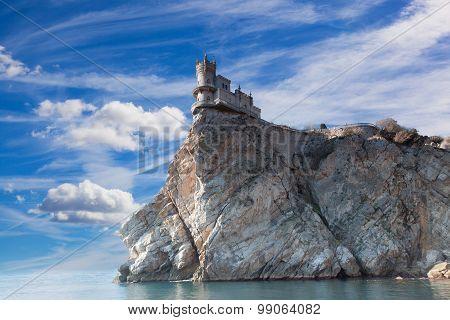 Swallow's Nest Castle On The Rock Over The Black Sea. Gaspra. Crimea