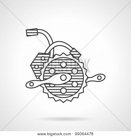Electric bike crankset vector icon