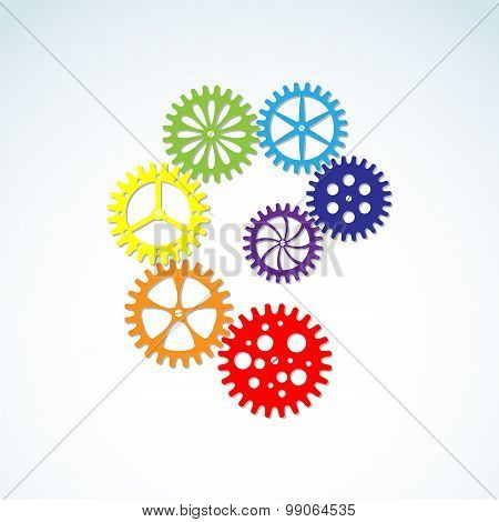 Vector Colorful Gears