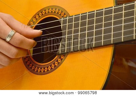 A Musician In The Classical Guitar