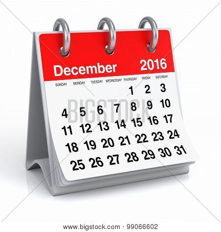 December 2016 - Desktop Spiral Calendar