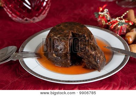 Plum Pudding With Brandy