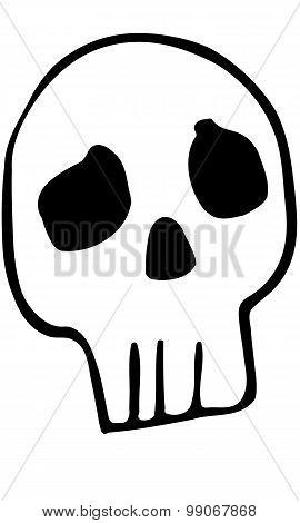 Sketch Funny Human Skull