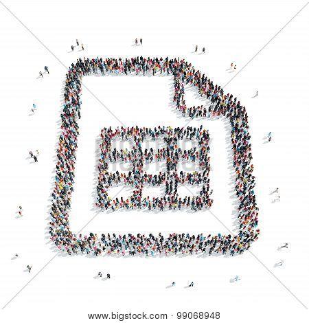 group  people  shape sheet  letter