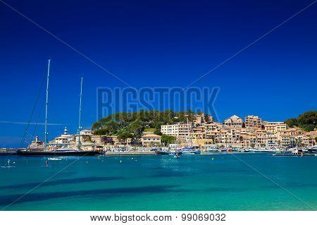 Yachts In The Harbour Of Port De Soller