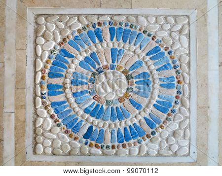 Colorful Blue Stone Mosaic Pannel Decoration