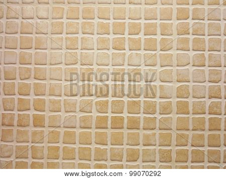 Porcelain Pieces Mosaic Brown Background Pattern