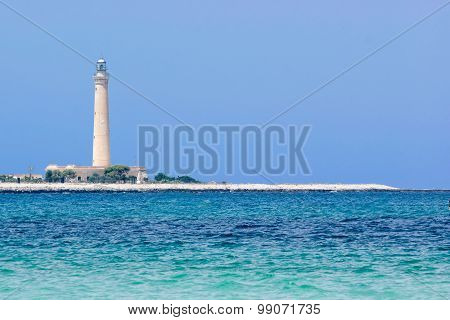 Seascape With Lighthouse In The Background
