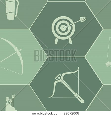 Seamless background with archery