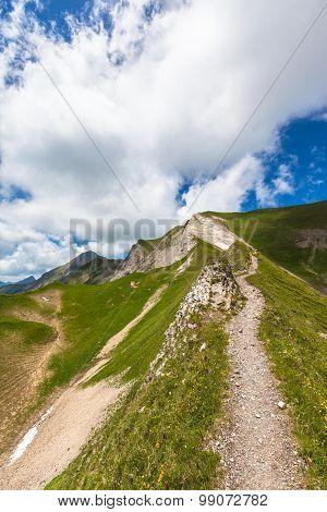 Hiking Path On Bernese Oberland