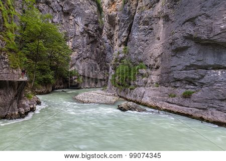 Aare Gorge In Switzerland