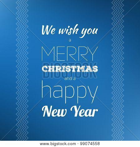 Typography Christmas Card