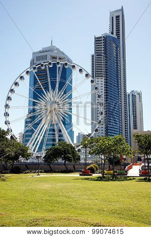 The Wheel of Surfers Paradise located on the top of the Transit Centre