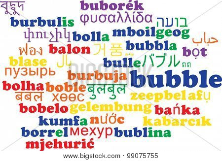 Background concept wordcloud multilanguage international many language illustration of bubble