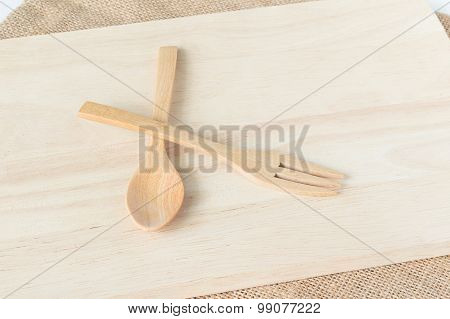 Wooden Utensils (spoon, Fork, Wood Plate)