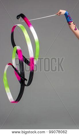 The gymnastics ribbon