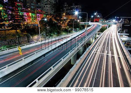 View of Pacific Motorway from the Victoria Bridge, Brisbane