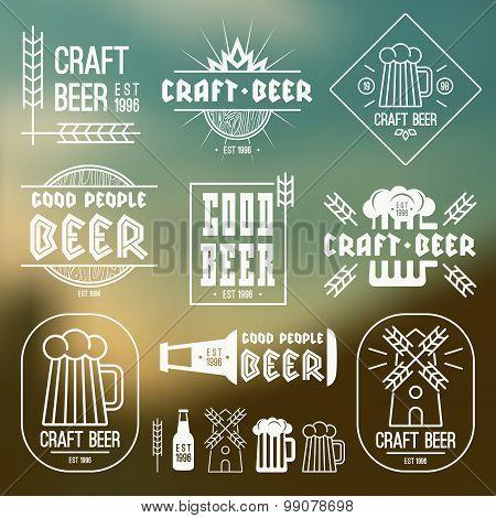 Craft Beer Brewery Emblems
